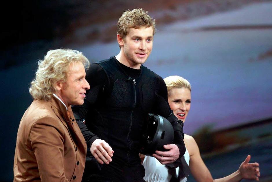 Nach dem Unfall von Wettkandidat Samuel Koch wurde die laufende Sendung am 04.12. 2010 abgebrochen. (Foto: dpa)