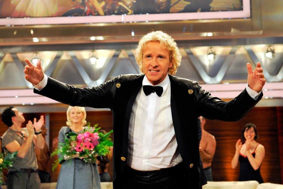 Thomas Gottschalk verabschiedet sich bei der letzten regulären Sendung von seinem Publikum. (Foto: dpa)