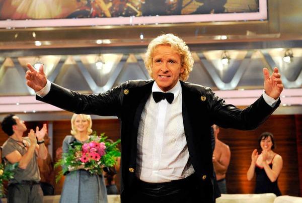 Thomas Gottschalk verabschiedet sich bei der letzten regulären Sendung von seinem Publikum.