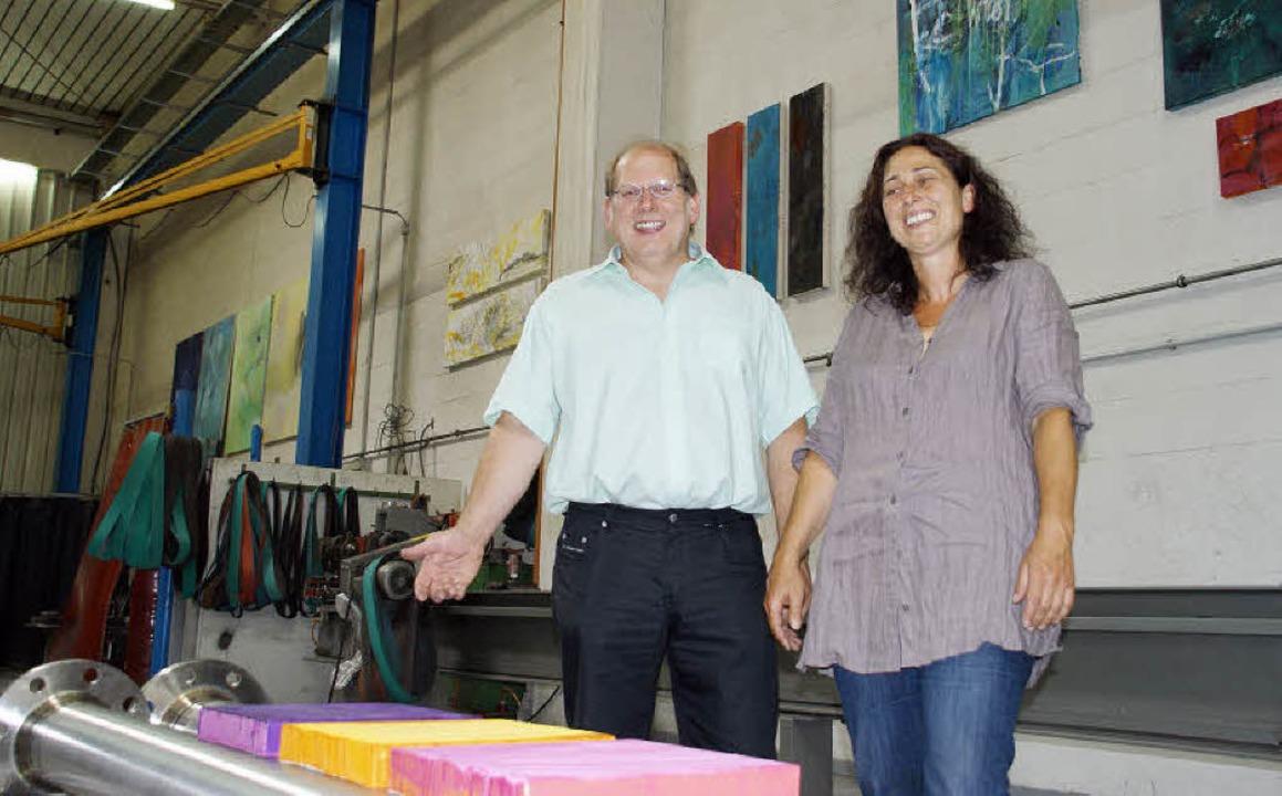 Kunst und Maschinenbau begegnen sich i...n Hanspeter Tschamber präsentierte.       Foto: Hrvoje Miloslavic
