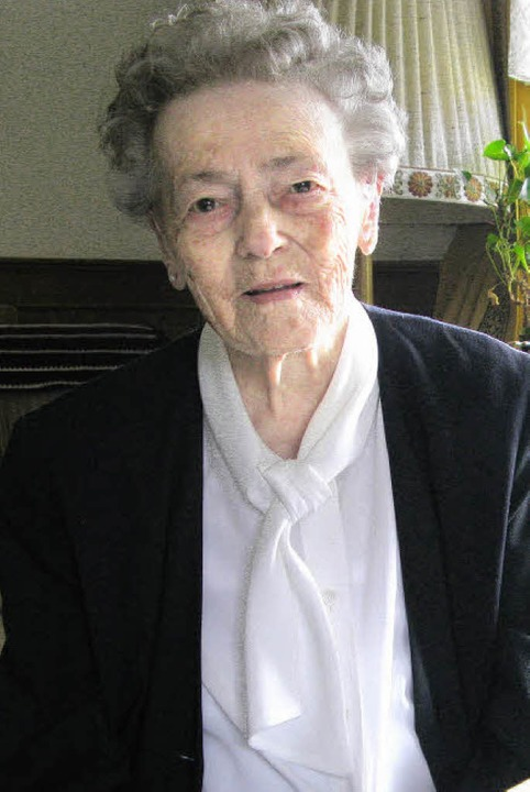 Luise Schäuble erinnert sich gerne an die Zeit im Haus am Bötzberg.    Foto: Ulrike Spiegelhalter