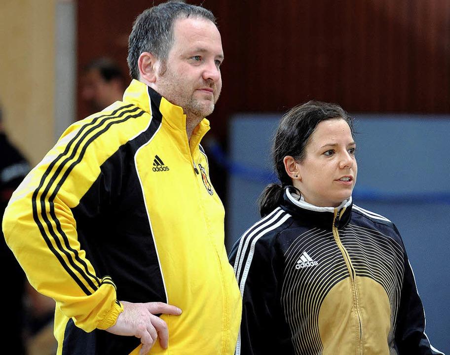 Swen  Strittmatter und Swantje Hauschi...dern auch erfolgreich auf der Planche.  | Foto: Meinrad Schön
