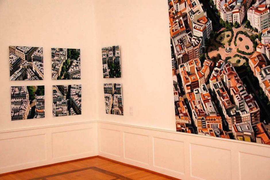 """Ralph Fleck: Ausstellung """"Bilder aus drei Jahrzehnten"""" im Schloss Bonndorf vom 3. Juli bis 4. September 2011 (Foto: Wilfried Dieckmnann)"""