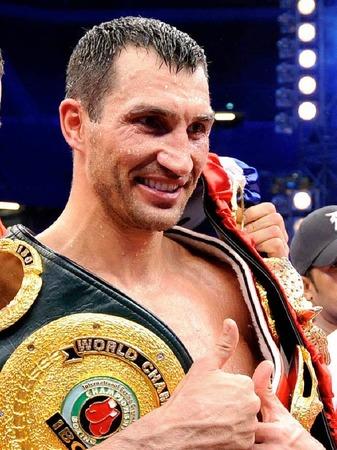 """WM-Kampf im Schwergewicht: Wladimir """"Dr. Steelhammer"""" Klitschko gegen David """"Hayemaker"""" Haye."""