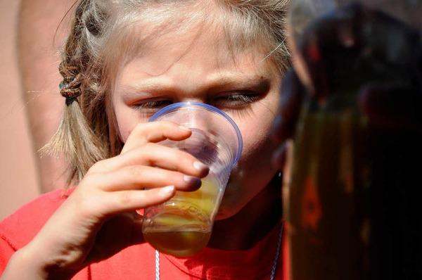 Große Freude bei den Kleinen - das Kinderturnfest am Sonntag zog viele Jungen und Mädchen ins Lörracher Grüttparkstadion