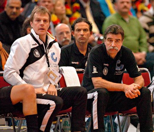 25. Januar 2007: Weltmeisterschaft in Deutschland zusammen mit Bundestrainer Heiner Brand