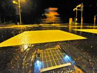 Der Sandfangweg leuchtet nun mit LED-Technik