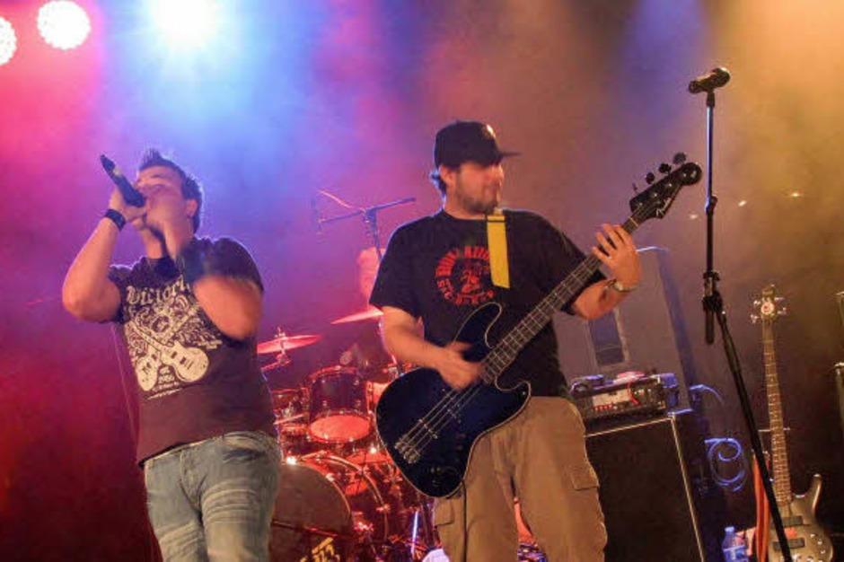 Hatten großen Spaß an ihrem Auftritt: die Band Inside Melina aus Bombach und Hecklingen. (Foto: Eileen Woestmann)