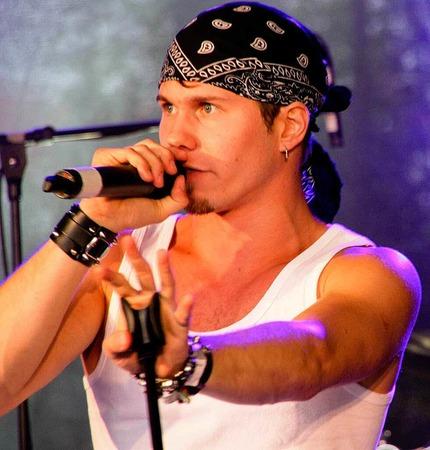 Daniel Priegnitz, der Sänger von Graffiti Revolt überzeugte mit seinen Texten.