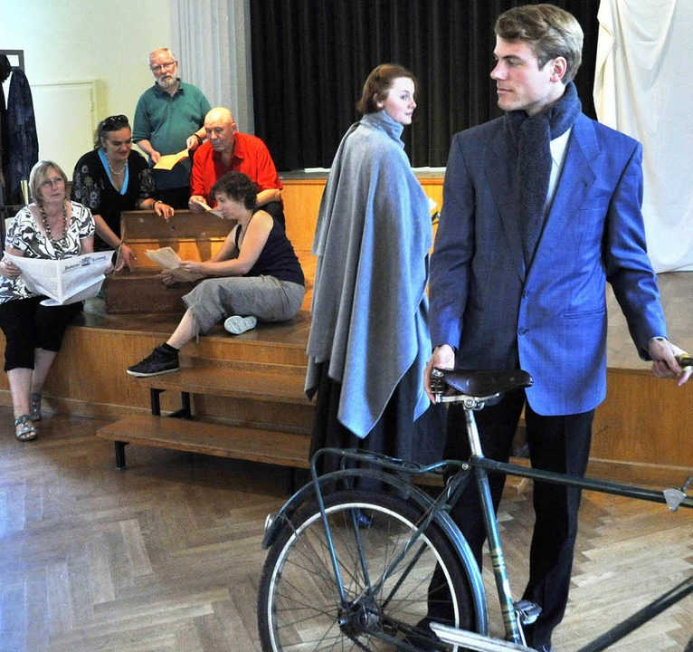 Laiendarsteller setzen am Sonntag das ...Helene Schweitzer Bresslaus in Szene.     Foto:  Michael Bamberger