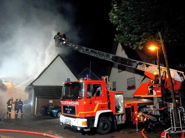 Der Dachstuhlbrand in Heiligenzell