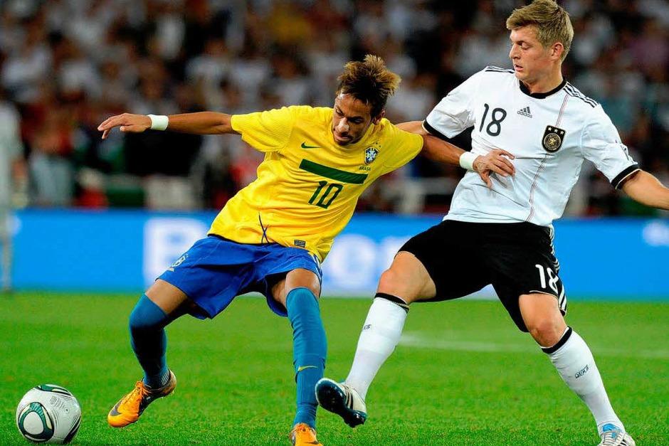 Neymar und Toni Kroos (Foto: dapd)
