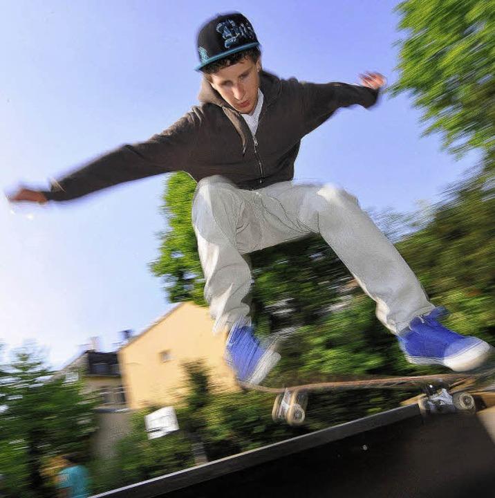 Für Skater wird's –  wie h...m Haus der Jugend –  oft eng.       Foto: M.bamberger