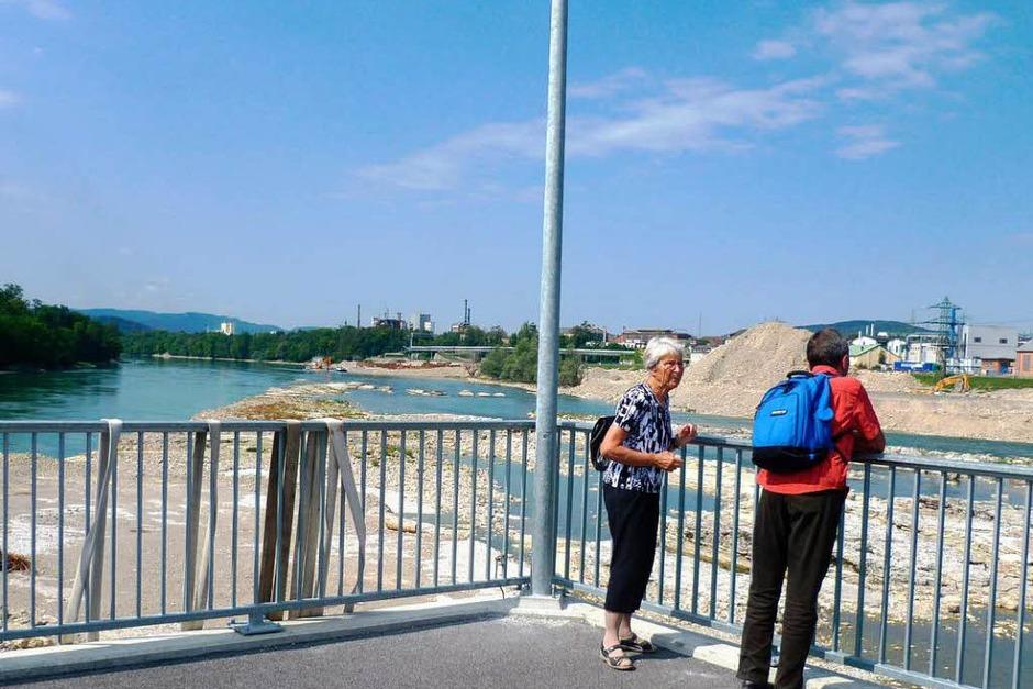 Impressionen vom neuen Rheinübergang (Foto: Claudia Gempp)