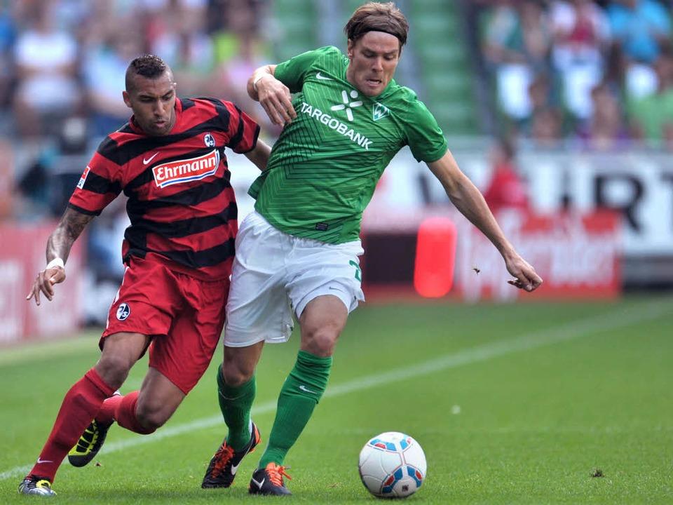 Das war sein letztes Spiel für den SC ...lliams im Einsatz gegen Werder Bremen.    Foto: dpa