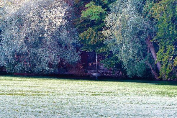 Durch die Stauung ist der Wasserspiegel des Rheins um 1,40 Meter gestiegen. Die Fischerhütten entlang des Ufers mussten deswegen höher gelagert oder verlegt werden.