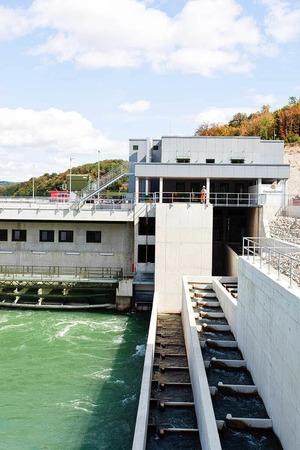 Strenge Auflagen hatte die Kraftwerksbauer bez�glich des Tierschutzes. Hier zu sehen ist das Fischaufstiegsbecken.
