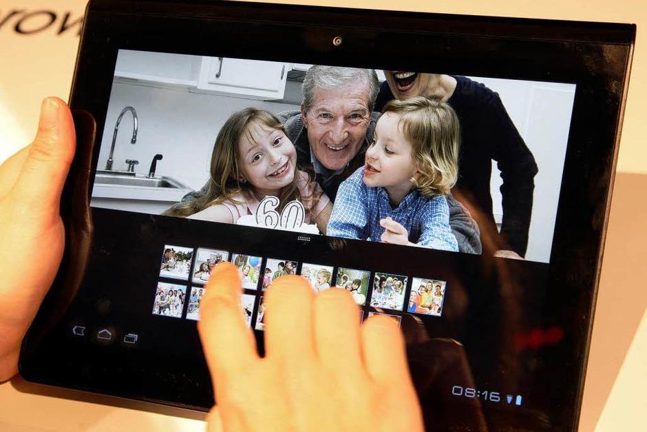 Tablet-Computer stehen auf der Messe wieder einmal im Mittelpunkt. (Foto: dpa)