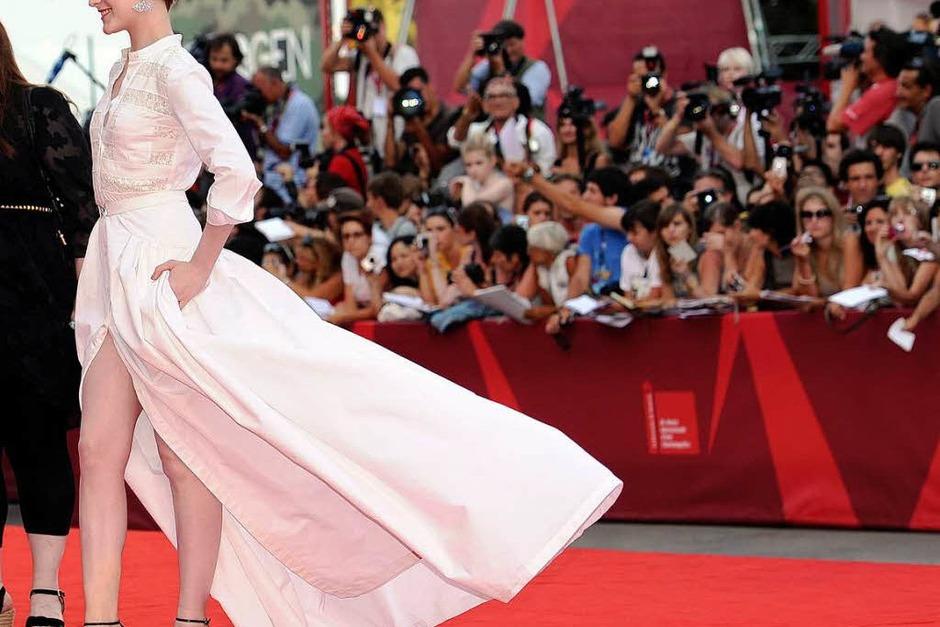 Hingucker: Schauspielerin Evan Rachel Wood spielt ebenfalls in Clooneys Streifen mit. (Foto: dpa)