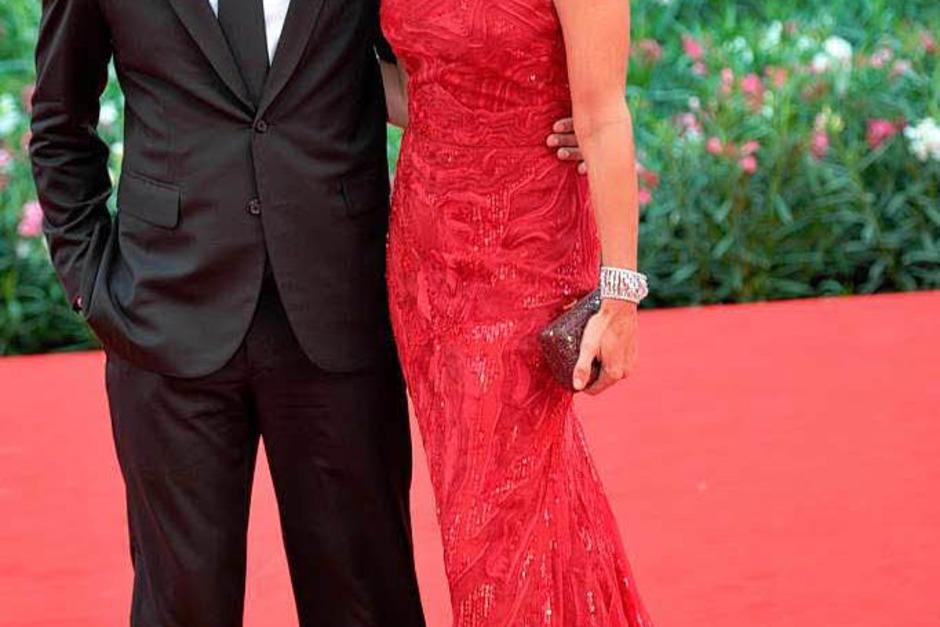 Gute Freunde von George Clooney: US-Topmodel Cindy Crawford und Ehemann Rande Gerber. (Foto: AFP)