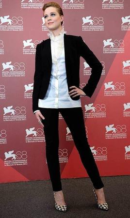 Evan Rachel Wood braucht keinen Glamour, um aufzufallen.