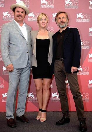 John C. Reilly, Kate Winslet und Christoph Waltz.