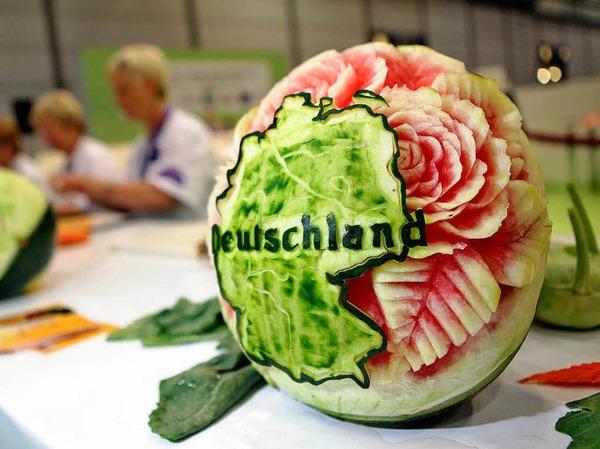 Eine Melone mit Deutschlandkarte