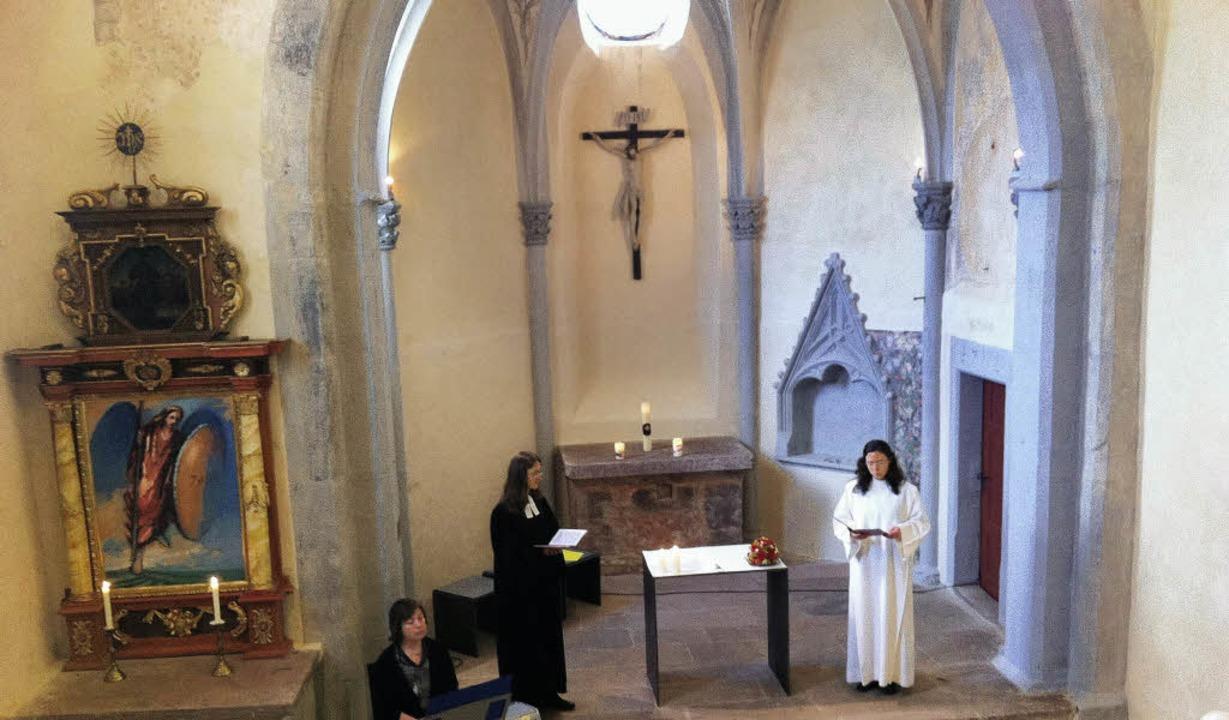 Am Sonntag offenes Denkmal: Die Michaelskapelle auf dem Michaelsberg in Riegel.  | Foto: Archivfoto Christiane Franz