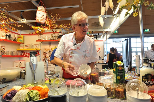 Insgesamt 550 Aussteller präsentieren ihre Produkte und Dienstleistungen auf der Badenmesse, der größten Freiburger Verkaufsschau.