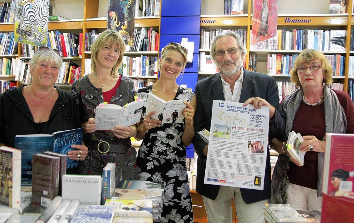 Bei der 12. Lesenacht lesen: Andrea Em...Rainer Glaser und Christina Hildebrand  | Foto: Sylvia-Karina Jahn