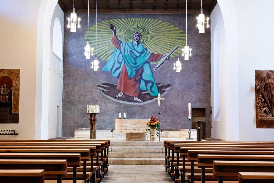 Der Papst wird die Seminarkirche durch die Sakristei betreten. (Foto: Dominic Rock)