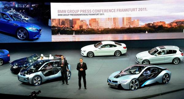 BMW stellt auf der IAA die Konzeptfahrzeuge BMW i3 Concept und i8 Concept vor.