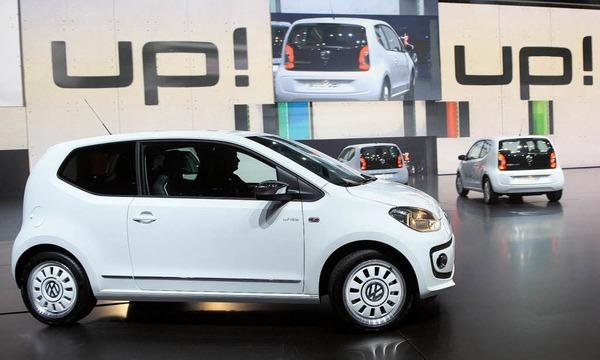 """Ein Volkswagen-Kleinwagen """"Up""""."""