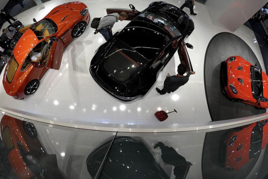 Fahrzeuge des britischen Sportwagenherstellers Aston Martin. (Foto: dapd)