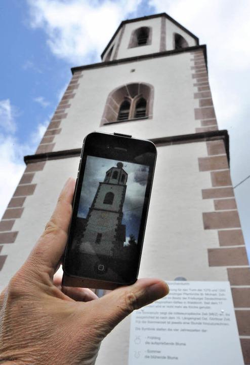 Nicht mehr nur Text auf Infotafeln, so...kten in der Storchentrumgemeinde geben    Foto: Markus Zimmermann