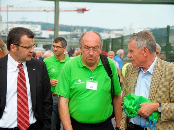 Impressionen von den Tagen der offenen Tür im neuen Wasserkraftwerk Rheinfelden