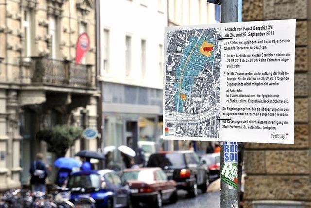 Papstbesuch: Einzelhändler rechnen mit Einbußen