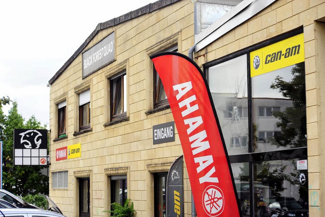 Das Quad-Geschäft an der Oltmannstraße war am Wochenende Ziel einer Attacke.    Foto: thomas kunz