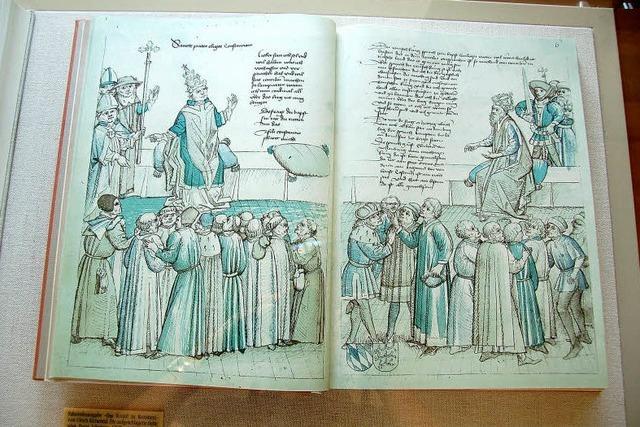 Auch Neuenburg hatte schon einmal einen Papst zu Gast