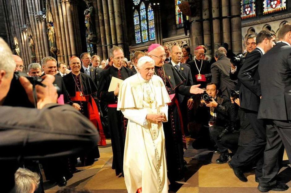 Papst Benedikt XVI. besucht das Freiburger Münster (Foto: Ingo Schneider)