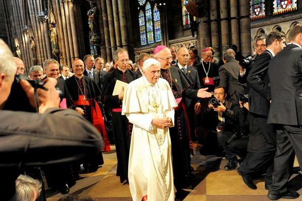 Papst Benedikt XVI. besucht das Freiburger Münster