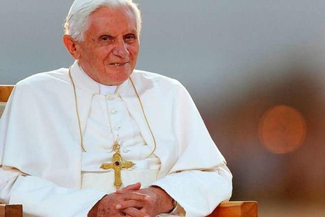 Papst Benedikt XVI. bedankt sich für herzliche Aufnahme
