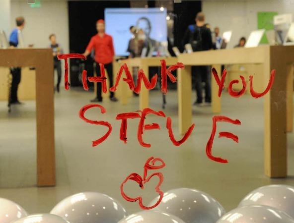 Think different! Apple-Fans trauern um Steve Jobs.