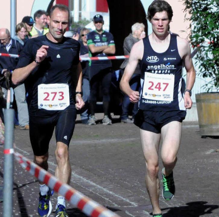 Erster und Zweiter :  Einar Marweg (links) und Matthias Haller.   | Foto:   Künstle