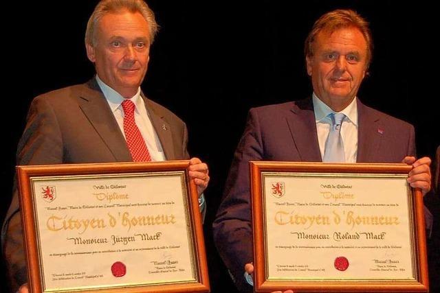 Jürgen und Roland Mack Ehrenbürger von Sélestat