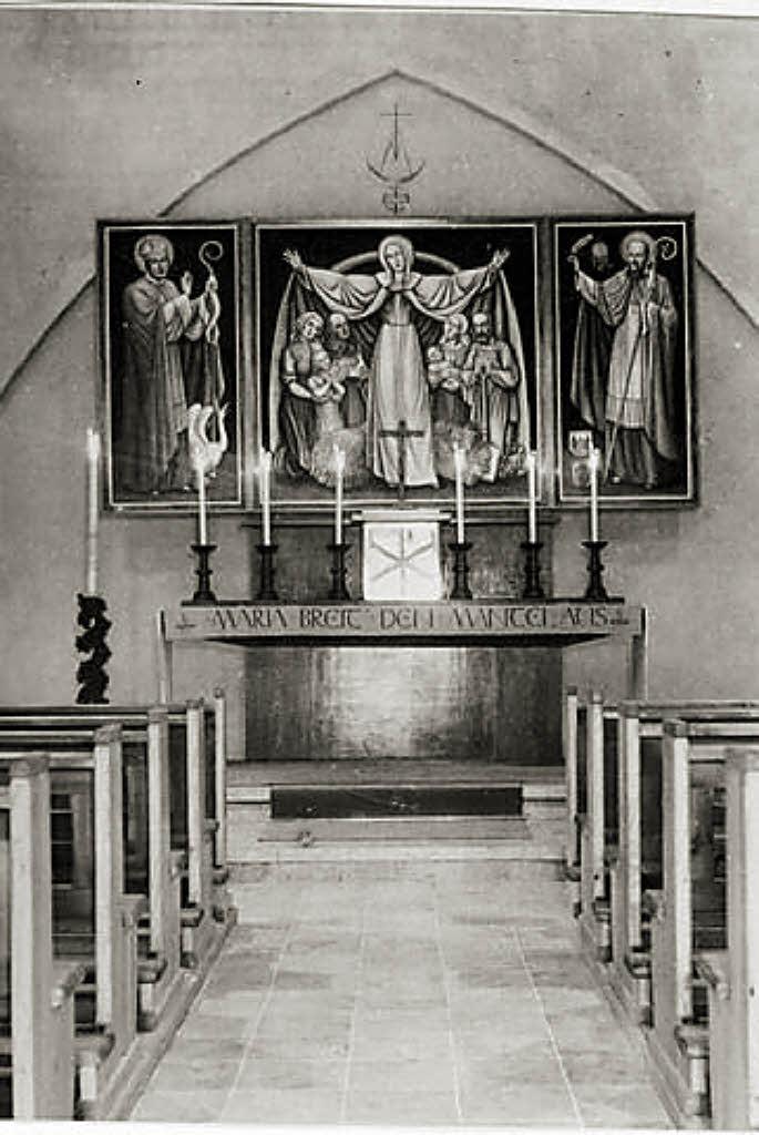 1954 wurde die filialkirche in marzell geweiht kandern. Black Bedroom Furniture Sets. Home Design Ideas