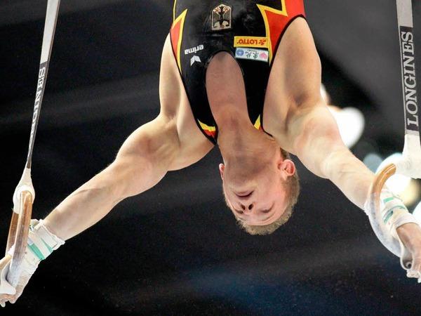 Wieder fit: Fabian Hamb�chen an den Ringen