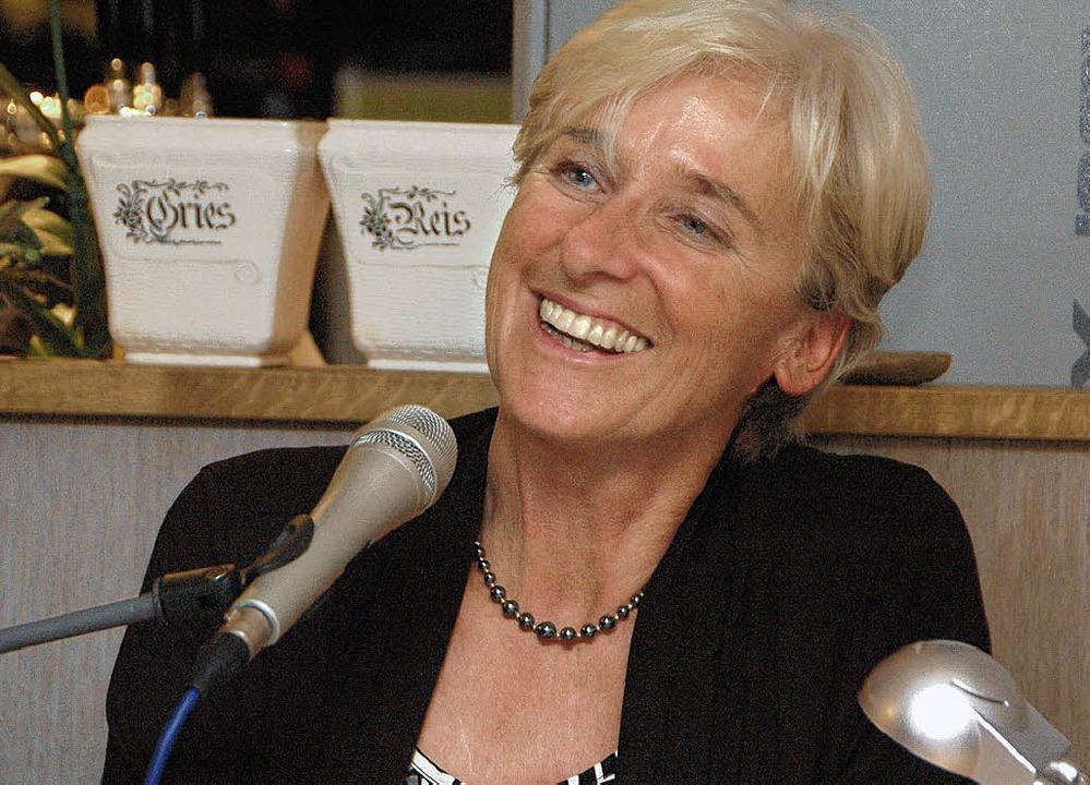 Ellen Heinzelmann bei der Lesung in Egisholz.   | Foto: OUNAS-KRÄUSEL