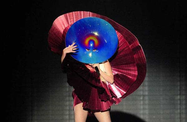 Gesichtslos: Lady Gaga bei ihrem Aufritt