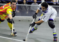 Rollhockeyteams proben im Europapokal